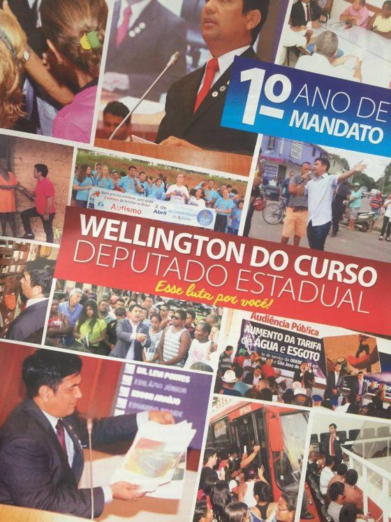 Para o Grupo Ilha Azul, imagem que aparece acima do nome Wellington no informativo é uso eleitoreiro da imagem da instituição