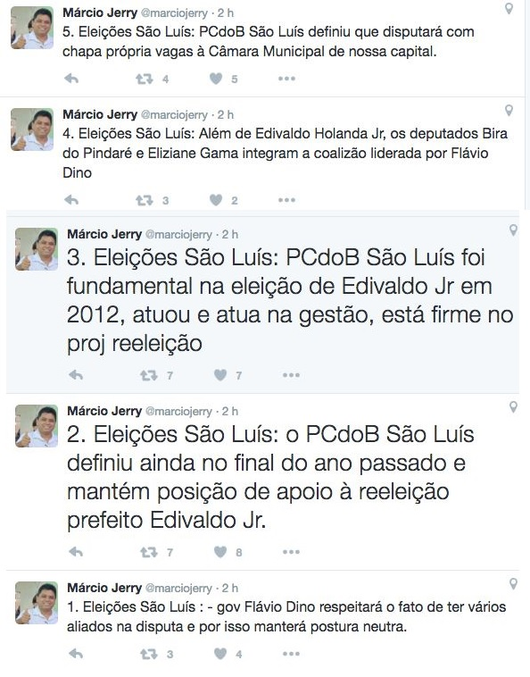 Governador Flávio Dino apoiará três candidatos à Prefeitura de São Luís, revela Márcio Jerry