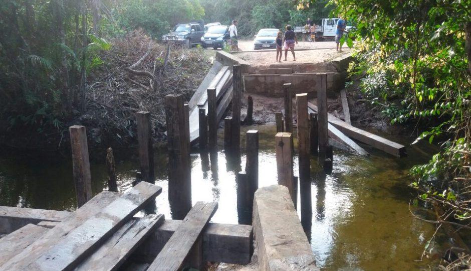 Mais da metade da população de Icatu está isolada após ponte desabar