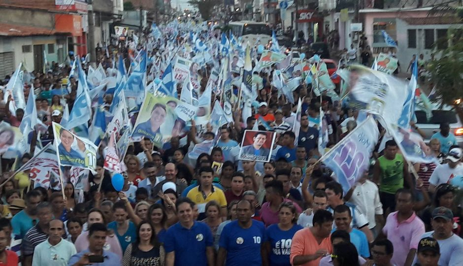 Paço do Lumiar: Onda Azul do 10 invade ruas e avenidas do Maiobão