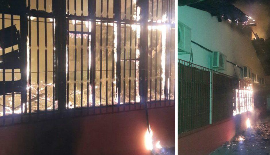 URGENTE! Facções ateiam fogo na UEB Darcy Ribeiro