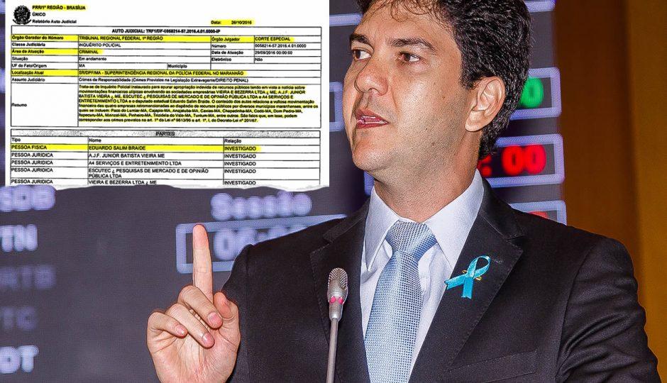 Eduardo Braide é investigado pela Polícia Federal por lavagem de dinheiro
