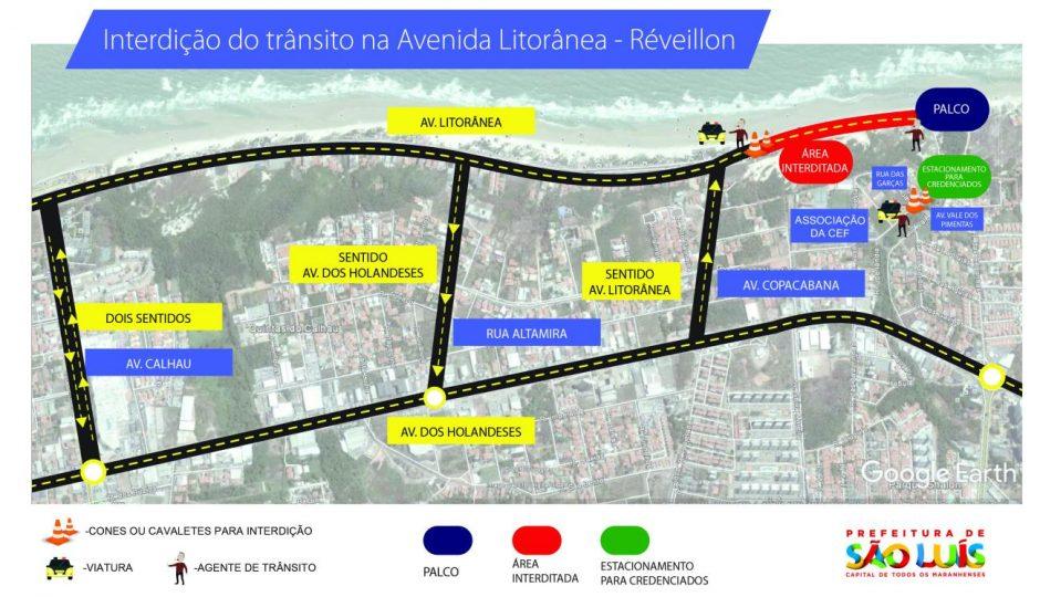 Trânsito da Avenida Litorânea será alterado para as festas de fim de ano