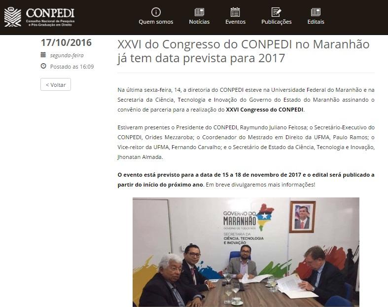 noticia-convenio-secti-conpedi-ppgdir-ufma-2