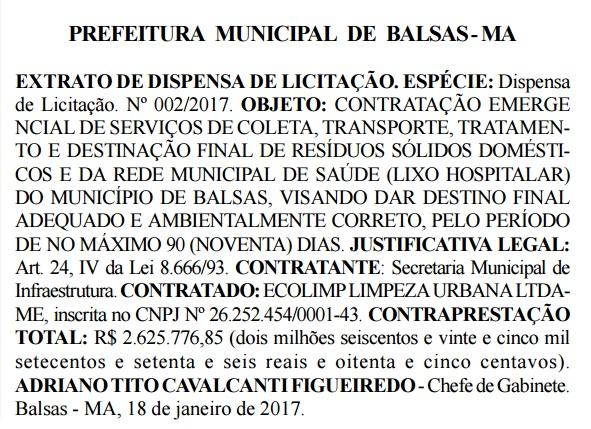 contrato-prefeito-de-balsas-ecolimp-limpeza-urbana
