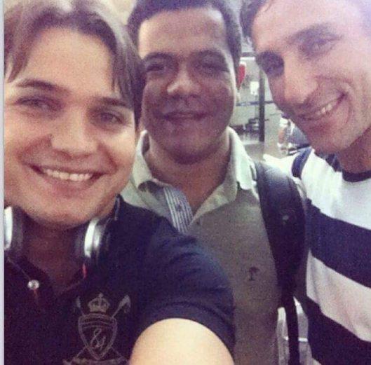 Daniel Coimbra e Luciano Leitoa, com o também amigo Felipe Santolia — outro que já foi preso pela polícia, por apropriação indébita previdenciária