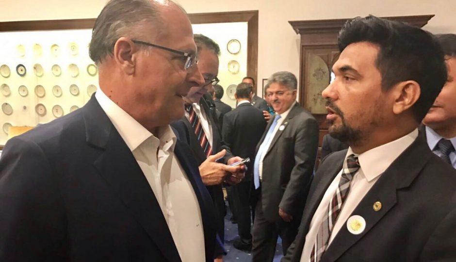 Wellington discute Pacto Federativo e PEC 47 com Geraldo Alckmin