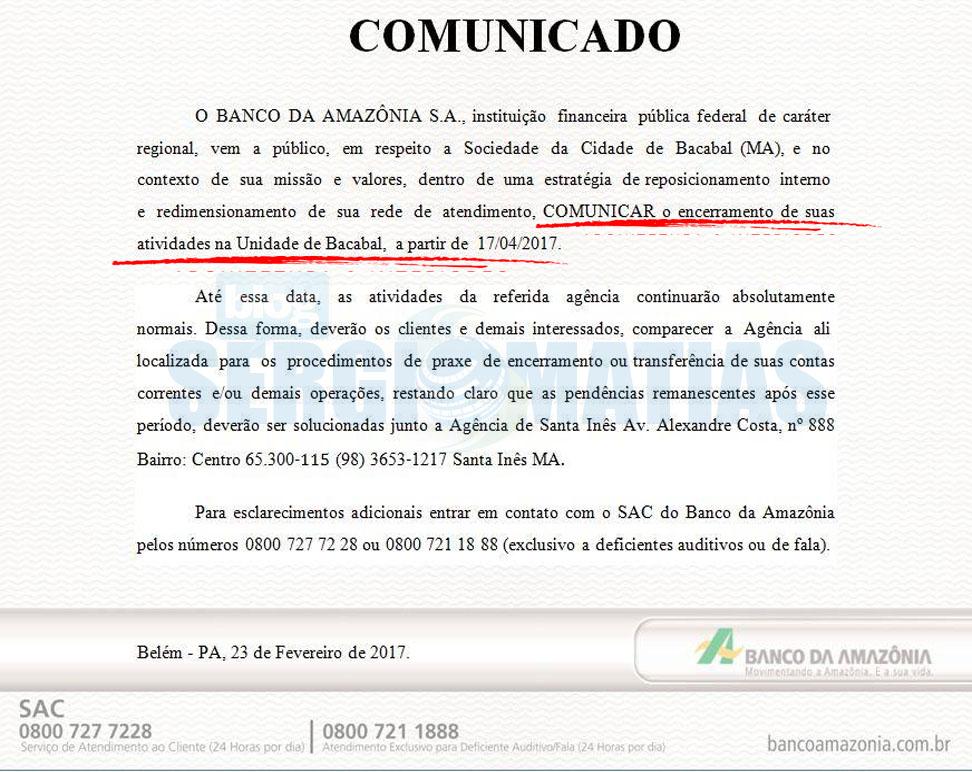 banco-da-amazonia-basa-bacabal-anuncia-fechamento
