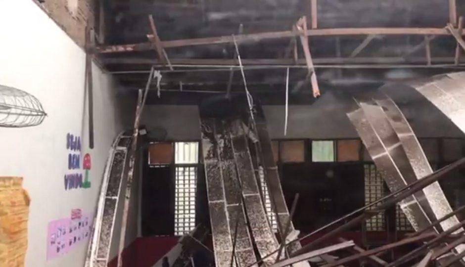 Teto de escola cai e fere professora e alunos em São Luís