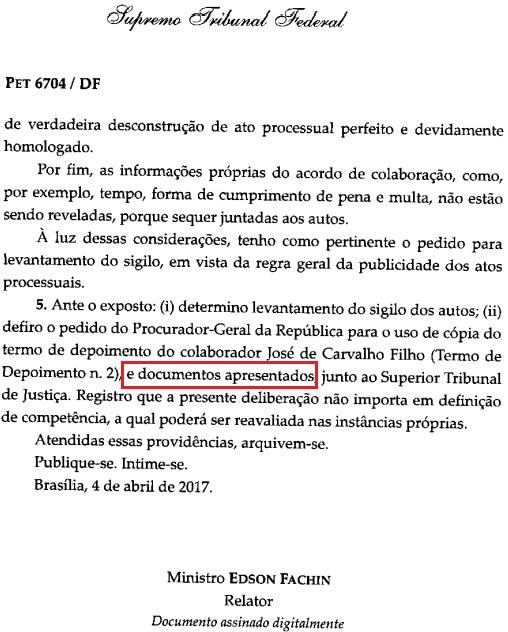 Relator da Lava Jato no STF remeteu depoimento e documento apresentados pelo delator João de Carvalho Filho, contra Flávio Dino, ao STJ