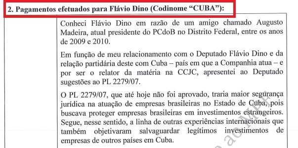 Documento encaminhado pela PRG, encaminhado por Janot ao STF e remetido para o STJ, confirma governador do Maranhão como o 'Cuba' na planilha de propinas da Odebrecht